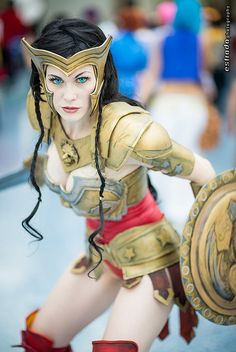 Wonder Woman, photo by Erik Estrada. Ahh! This is an excellent Injustice: Gods Among Us cosplay.