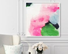 Items similar to Flora, Giclee Abstract Fine Art Print, abstract print, pink, green on Etsy Fine Art, Abstract Painting, Painting, Giclee Abstract, Abstract Art, Art, Abstract, Abstract Print, Prints