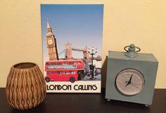 London Calling Printed Canvas 8x12 by NightBirdsDesign on Etsy