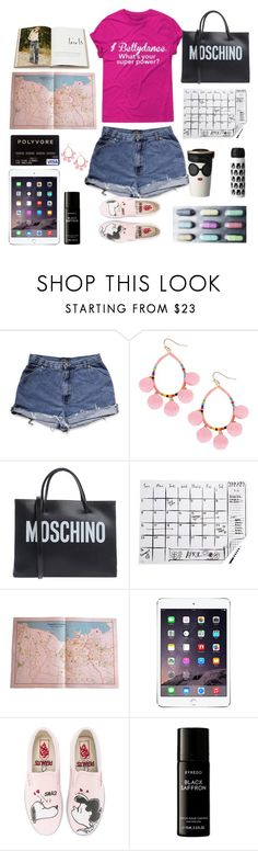 """""""girl's power"""" by lianafourmouzi ❤ liked on Polyvore featuring Humble Chic, Moschino, Kate Spade, Alice + Olivia, INDIE HAIR, Vans, Liberty and Rizzoli Publishing"""