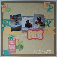 CTMH Footloose one page beach layout