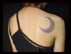Blue moon tattoo shoulder