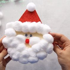 SANTA CARD SANTA CARD – this Santa card is so fun and easy to make! Kids will love making this Christmas Card. If you're looking for an easy Christmas craft for kids this is it! The post SANTA CARD appeared first on Diy Crafts.An easy Santa craft Santa Crafts, Easy Christmas Crafts, Simple Christmas, Christmas Decorations, Christmas Ornaments, Christmas Crafts For Toddlers, Christmas Christmas, Outdoor Christmas, Christmas Lights