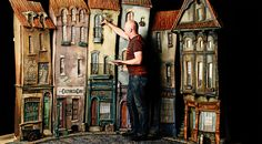 The Man Who Brought Stop-Motion Animation Into the 21st Century | Curt Enderle, art director, working on Cheesebridge houses. | WIRED.com