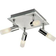 Bathroom Lights Screwfix luxor 3-plate bathroom spotlight chrome & white s15 25w | bathroom