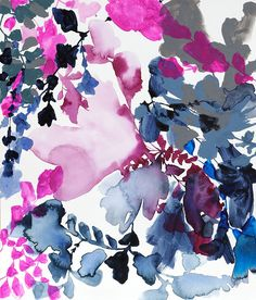 mixed media paintings by Jen Garrido from www.afinelineblog.com