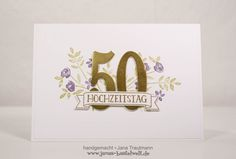 Janas Bastelwelt - Unabhängige Stampin' Up! Demonstratorin: Zur goldenen Hochzeit