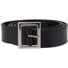 Pre-owned Dolce   Gabbana Black Leather Belt ( 23) ❤ liked on Polyvore  featuring accessories, belts, leather belt, buckle belt, real leather  belts, ... d58efa99613