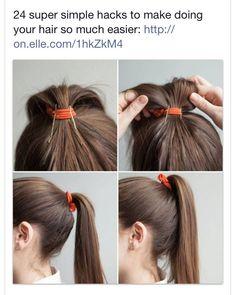 Raising a limp ponytail