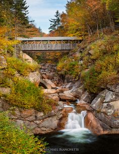 Sentinel Pine Bridge at the Flume, White Mountains of New Hampshire