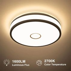 18W LED Ceiling Lights Warm White 1600lm Flush Mount Ceiling Light – onforuleds Bathroom Ceiling Light, Led Ceiling Lights, Ceiling Light Fixtures, Ceiling Lamp, Led Flush Mount, Flush Mount Ceiling, Black Rings, Save Energy, Beams