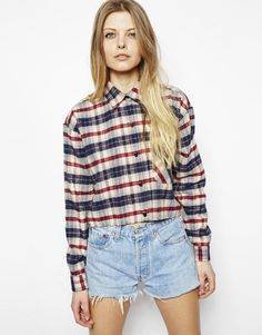 ASOS Reclaimed Vintage Crop Check Shirt- I like this