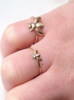 Teensy and larger bee rings for Beez
