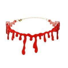 Criativo Horror Gargantilha Declaração Colar Fantasia de Halloween Vestido de Coringa Gotejamento de Sangue Vermelho Colares Para As Mulheres Acessórios de Jóias