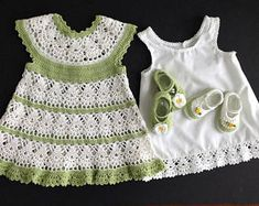 Baby Girl Crocheted Spring Dress Outfit