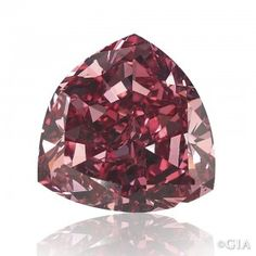 """The 5.11 ct Fancy Moussaieff Red. Most other reddish diamonds are """"cooler"""" in appearance and termed purplish red. Courtesy of William Goldbe..."""