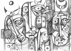 Face Expressions, Cubism, Modern Art, Finger, Sunday, Faces, Portraits, Journal, Sculpture