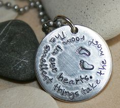 Hand stamped jewelry for mom & new moms   Custom by iiwiiemporium, $15.00