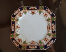 Imperial Derby Pattern Plates, Longport, England