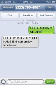 So Yesterday Misha Collins Gave Out His Number On Twitter...THIS IS THE GREATEST THING EVER YOU MUST CLICK THE PICTURE