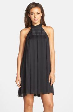 779e0b80f046 BCBGeneration Pleated Chiffon Trapeze Dress in Black trapeze dresses summer  Bcbgeneration, Nordstrom Dresses, Homecoming