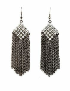 Rhinestone Fringe Dangle Earring: Charlotte Russe