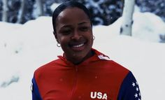 Vonetta Flowers, first  African  American to win gold in winter  Olympics