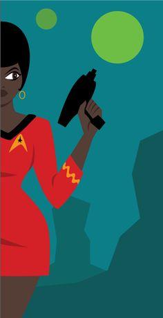aaronfreycomics:  Lt. Uhura Now available as a print here!