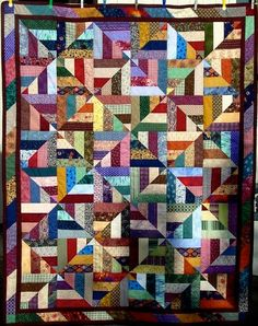 Scrap Quilt As You Go | Twenty-Six Free Scrappy Quilt Patterns
