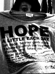 HOPE t-shirt.
