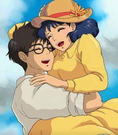 by ami (pixiv ) tags: anime ghibli the wind rises animacion love miyazaki fanart Totoro, Studio Ghibli Art, Studio Ghibli Movies, Hayao Miyazaki, Film Anime, Manga Anime, Geeks, Le Vent Se Leve, Wind Rises