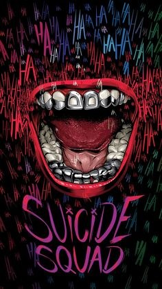 "Brazilian artist Cristiano Siqueira is eager to see Jared Leto as the Joker in ""Suicide Squad,"" about a band of imprisoned DC Comics villains on a high-risk mission. So for his poster, he chose to focus on that character. Héros Dc Comics, Harey Quinn, Joker Y Harley Quinn, Films Cinema, Plakat Design, Joker Wallpapers, Joker Art, Joker Joker, Batman Art"