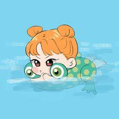 #DTNA Kawaii Chibi, Cute Chibi, Anime Chibi, Kawaii Anime, Nayeon, Cute Wallpaper Backgrounds, Cute Wallpapers, Twice Chaeyoung, K Pop