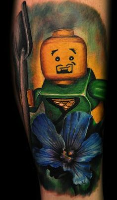 Incredible work from this guy Max Pniewski based in Bristol, England. He calls it a LEGOism study. I call it cool as fuck Lego Tattoo, Lego For Kids, Tatoos, The Incredibles, Ink, Cool Stuff, Artist, Bristol England, Painting