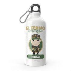 Termo - El termo del mejor militar, encuentra este producto en nuestra tienda online y personalízalo con un nombre. Boutique Interior, Water Bottle, Drinks, Boutique Interior Design, Carton Box, Military, Crates, Store, Drinking