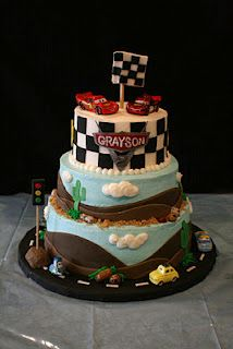 Cars Cake for dailey's birthday