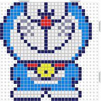 MeGustaHAMABEADS.com: Hama Beads Doraemon Hama Mini, Doraemon, 8 Bits, C2c Crochet, Cross Stitch Heart, Smurfs, Charts, Diy And Crafts, Tapestry