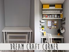 Tryin to make a home: My dream craft corner reveal