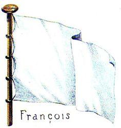 régiments français en amérique au temps de la Nouvelle-France - Google Search  /  1 Le pavillon blanc de la marine royale ou marine de guerre. Gustave Desjardins, Recherches sur les drapeaux français, planche XI.