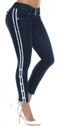 Jeans levanta cola WOW 86423 Azul