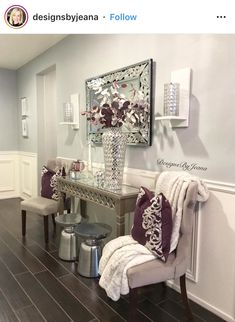 Foyer decorating – Home Decor Decorating Ideas Home Decor Signs, Home Decor Styles, Home Decor Accessories, Foyer Decorating, Interior Decorating, My Living Room, Living Room Decor, Porch And Foyer, Entry Tables