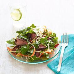 Crunchy Thai Beef Salad #myplate #protein #vegetables