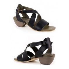 Lili Mill 5975 Strappy Sandal for Women - Black