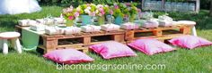 DIY kids dining table using pallets  {Bloom Designs}