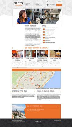 Diseño web Barcelona Student Housing | http://www.barcelona-student-housing.com/