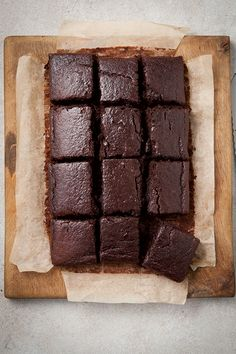 You can, of course, make these beetroot brownies with ordinary flour and baking powder but I'm often asked for gluten-free recipes and this works well. Beetroot goes beautifully with chocolate and creates a lovely moist cake. Beetroot Cake Recipe, Baked Beetroot, Beetroot Recipes, Beetroot Ideas, Chocolate Beetroot Brownies, Chocolate Traybake, Healthy Dessert Recipes, Healthy Baking, Delicious Desserts