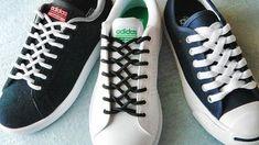 〔靴紐の結び方〕ファスナーのような編み目がカッコイイ... - #Coolwaystolaceshoes #shoelacepatterns #Shoelacestyingtechniques #Shoelacepatterns #Shoelaceswaystotie #靴紐の結び方ファスナーのような編み目がカッコイイ How To Tie Laces, Ways To Tie Shoelaces, How To Clean White Shoes, Shoe Lacing Techniques, Ways To Lace Shoes, Diy Clothes And Shoes, Creative Shoes, Shoe Crafts, Popular Shoes