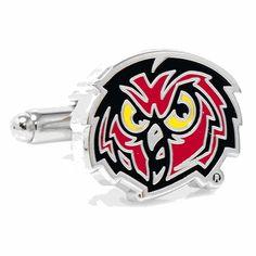Temple University Owls Cufflinks, NCAA College University Cufflinks by Cufflinskman