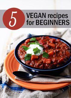 5 Vegan Recipes for Beginners