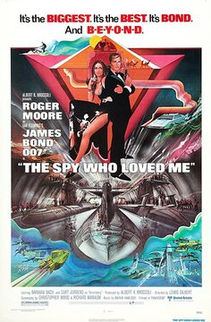 The Spy Who Loved Me (United Artists, One Sheet X James Bond. Starring Roger Moore, - Available at Sunday Internet Movie Poster. Best James Bond Movies, James Bond Movie Posters, Classic Movie Posters, Original Movie Posters, Film Posters, Classic Movies, Cinema Posters, Roger Moore, Cali
